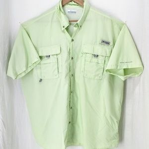 Columbia PFG lime sherbet fishing shirt XXL
